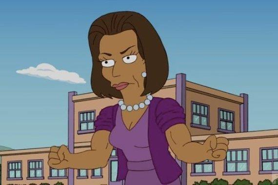 Michelle Obama compare nei Simpson
