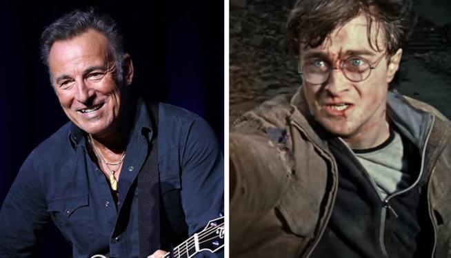 Bruce Springsteen e un giovane Harry Potter