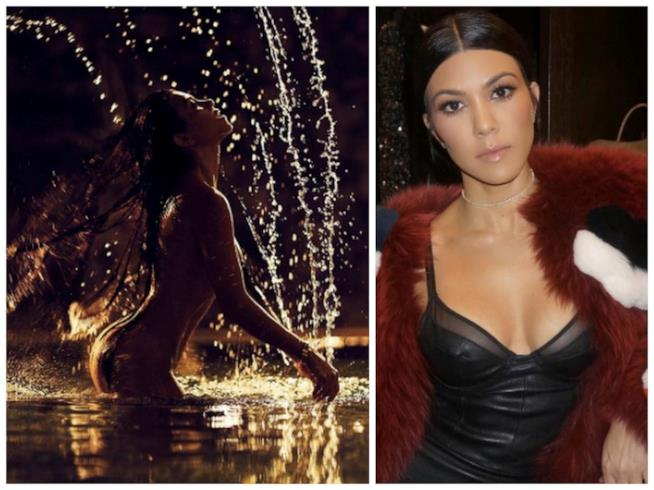 Lo scatto hot condiviso su Instagram da Kourtney Kardashian