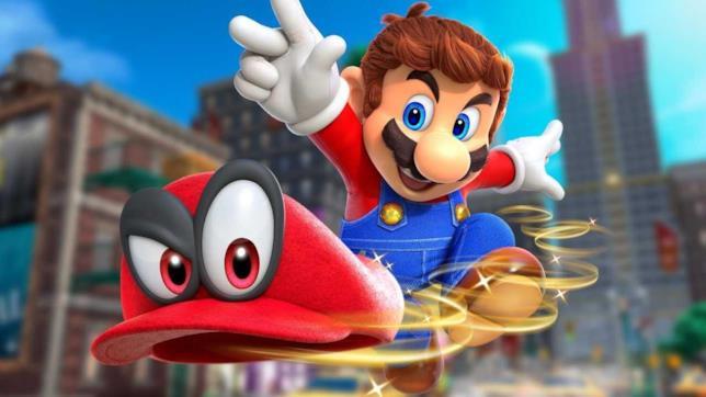 Mario lancia il suo cappello in Super Mario Odyssey