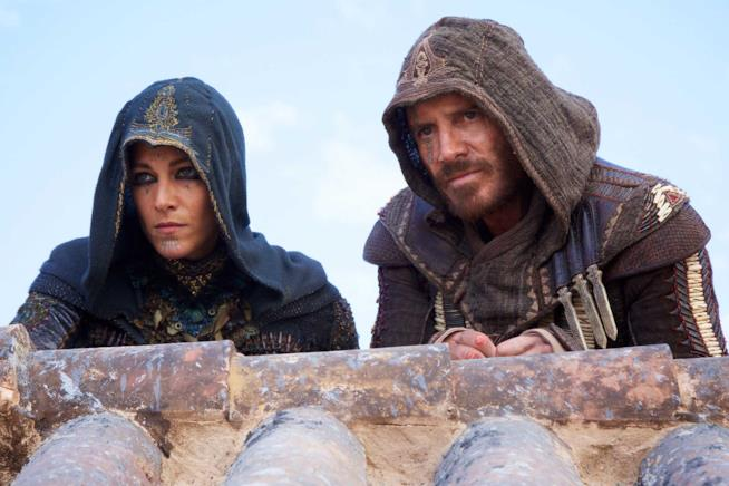 Immagine dal set del film Assassin's Creed