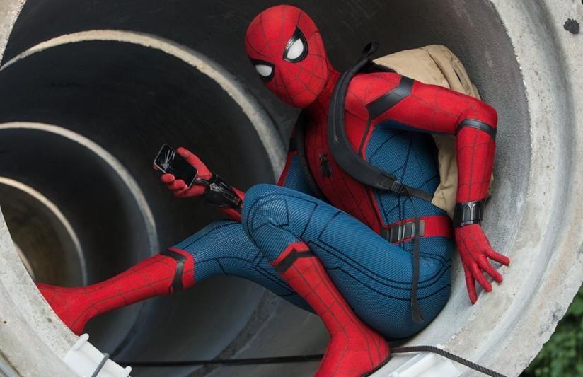 Tom Holland in Spider-Man: Homecoming
