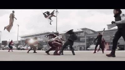 Giant Man nello scontro tra Avengers di Civil War