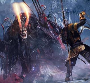 Un combattimento di Nioh su PS4