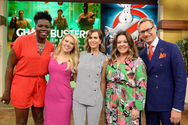 Leslie Jones e il cast di Ghostbusters