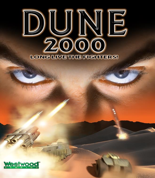 La boxart dell'edizione PC e PlayStation di Dune 2000