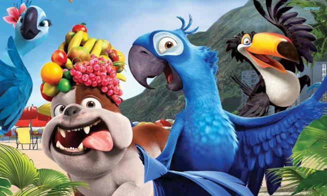 I personaggi di Rio in una scena del film