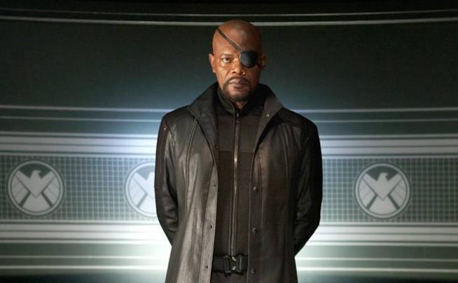 Samuel L. Jackson come Nick Fury in Avengers