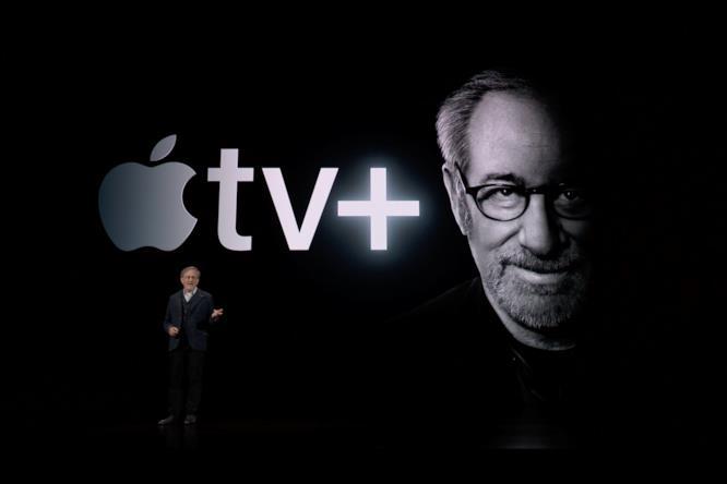 Steven Spielberg all'evento Apple del 25 marzo