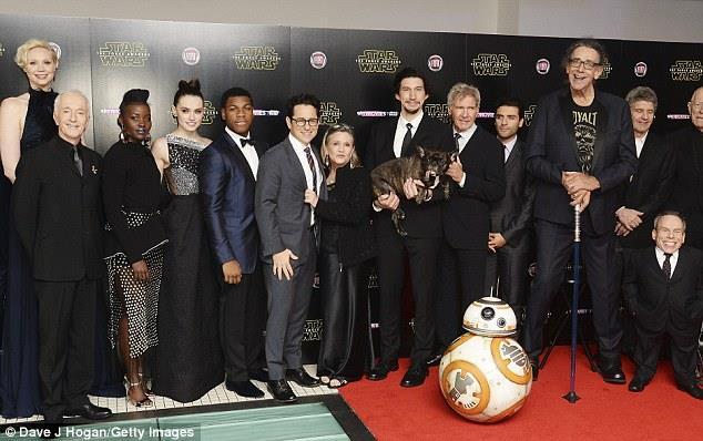 Il cast di Star Wars all'anteprima di Episodio VII