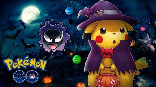 Pikachu vestito da strega per Halloween