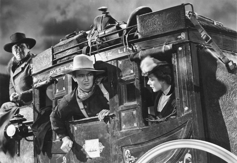 John Wayne a bordo della diligenza di Ombre Rosse