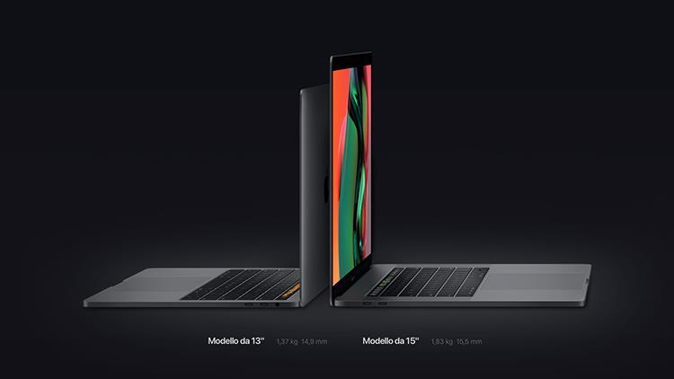 Dtettagli sui modelli 2018 da 13 e 15 pollici di MacBook Pro con Touch Bar