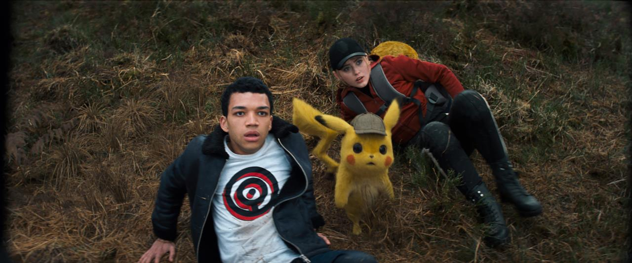 Detective Pikachu con Tim e Lucy