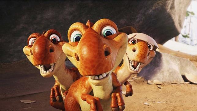 I tre dinosauri Gustuovo, Chiara e Tuorlino