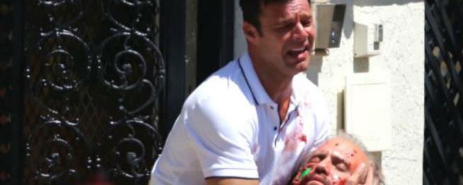 La scena dell'assassinio di Versace nella seconda stagione di American Crime Story