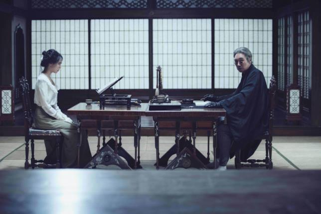 Kim Min-hee e Jo Jin-woong durante una scena de film