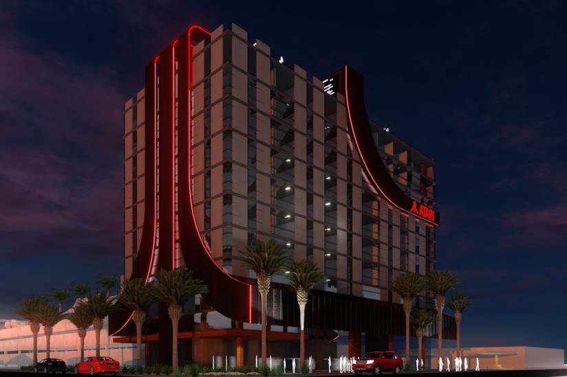 Il render ufficiale di un hotel Atari