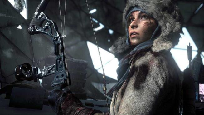 Una giovane Lara Croft in Rise of the Tomb Raider