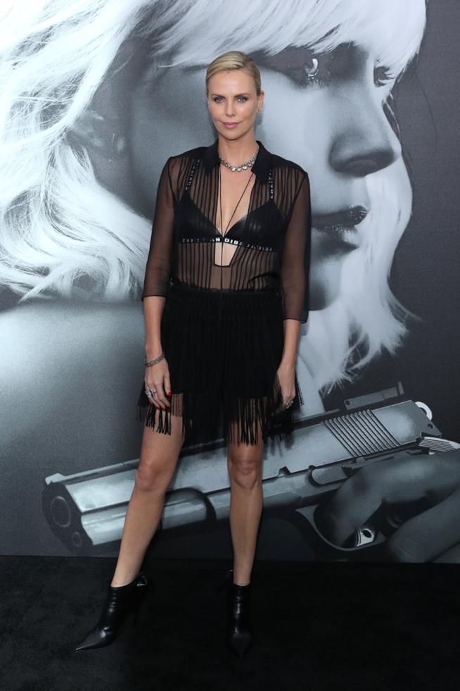 La premiere di Atomica Bionda con Charlize Theron