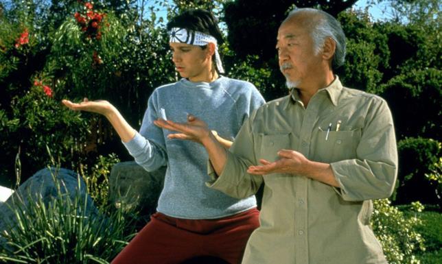 Danny LaRusso con il maestro Myagi