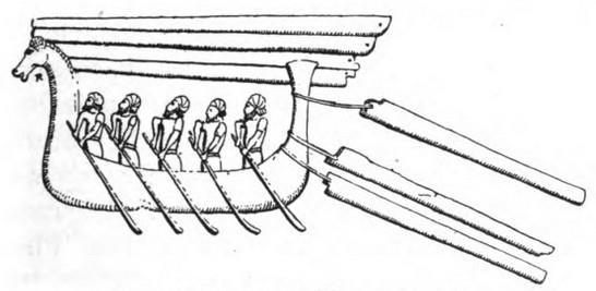Un esemplare di Hippos, l'imbarcazione che gli achei utilizzarono per espugnare Troia