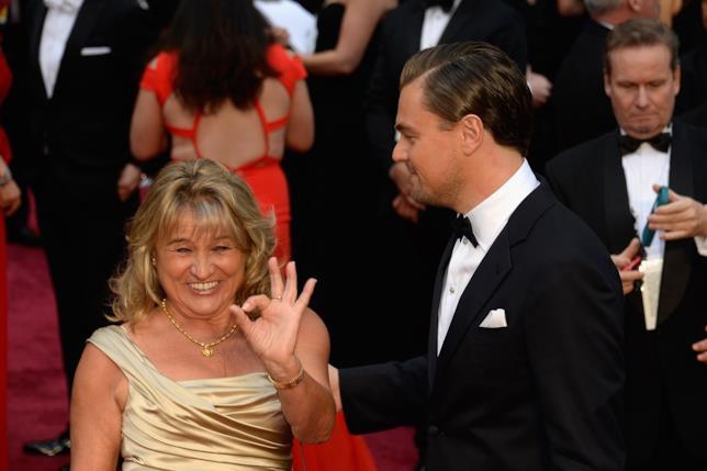 Primo piano di Irmelin Indenbirken e Leonardo DiCaprio