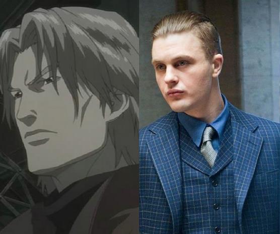Un collage tra Michael Pitt e Kuze del manga
