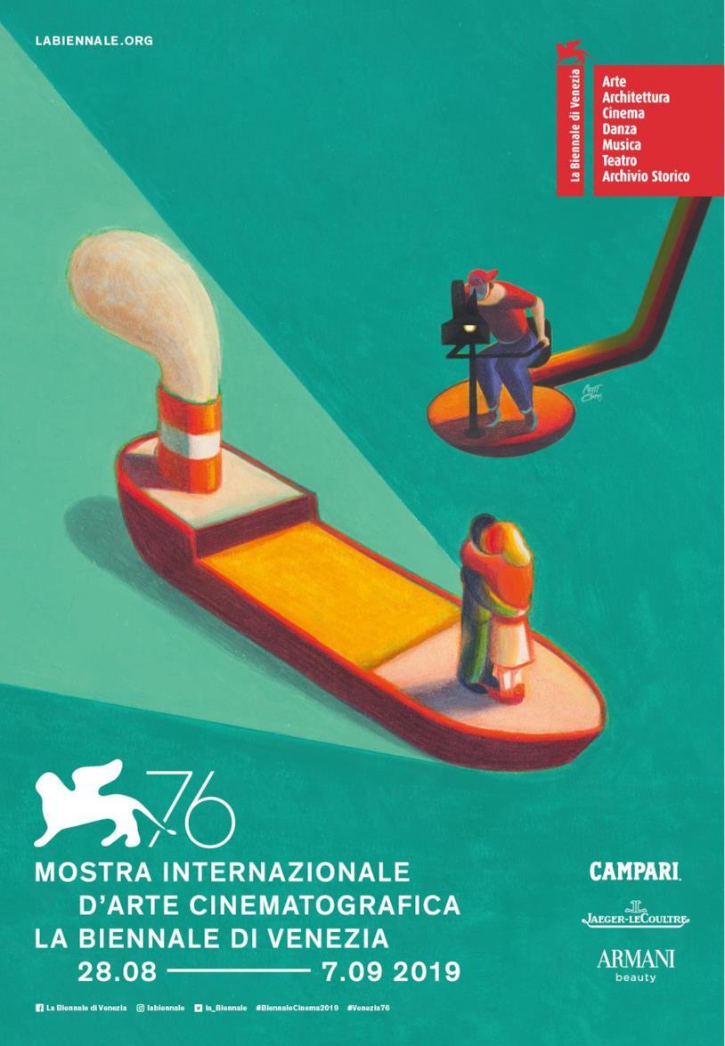 Poster ufficiale della 76esima Mostra del Cinema di Venezia