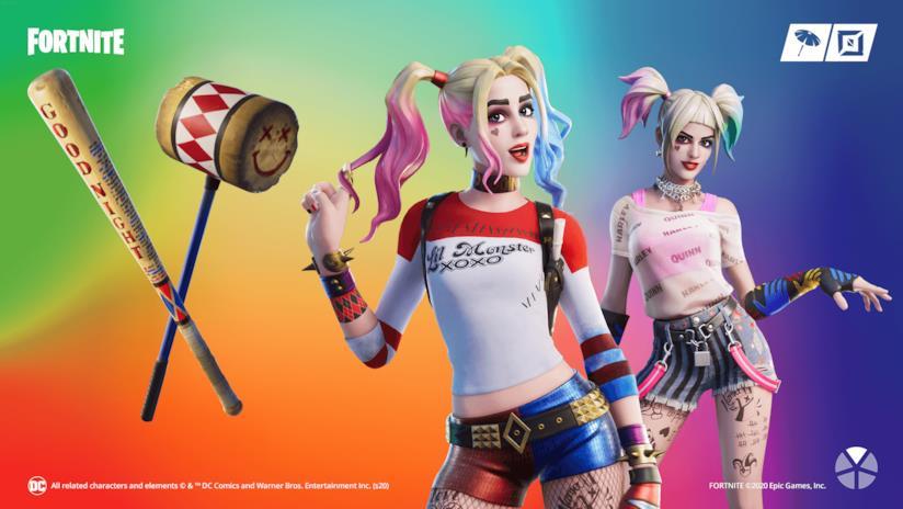 I costumi di Harley Quinn disponibili nel negozio in-game di Fortnite