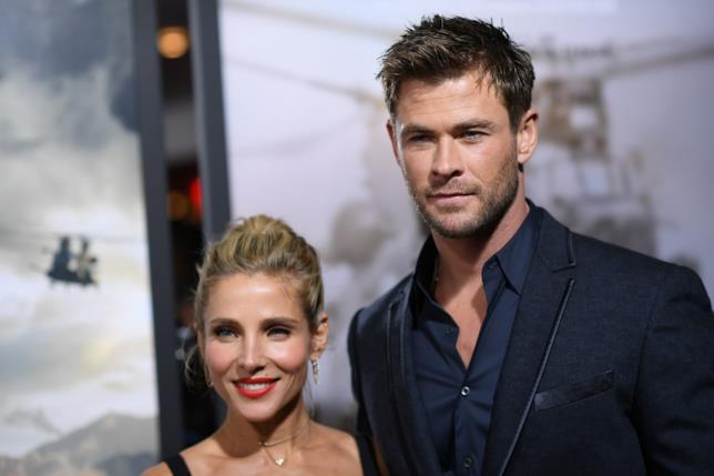 Chris Hemsworth posa con la moglie Elsa Pataky