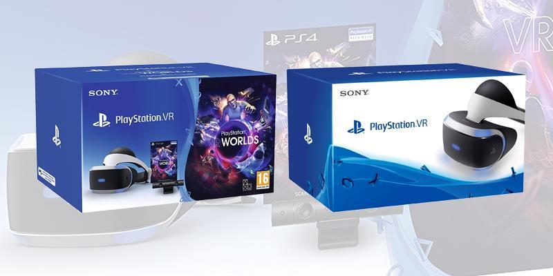 Due dei bundle di PlayStation VR presenti sul mercato