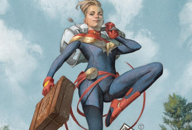 Dettaglio della cover di The Life Of Captain Marvel #1