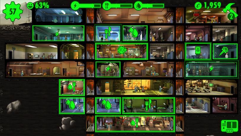 Un'immagine di gioco da Fallout Shelter