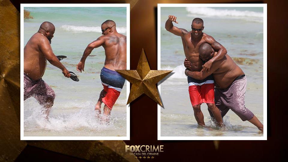 Una sfida tra due pesi massimi: uno sulla bilancia, l'altro in pose sexy. Forza Shemar!