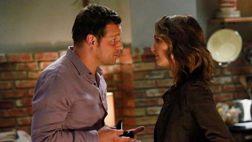 Justin Chambers e Camilla Luddington in Grey's Anatomy 12