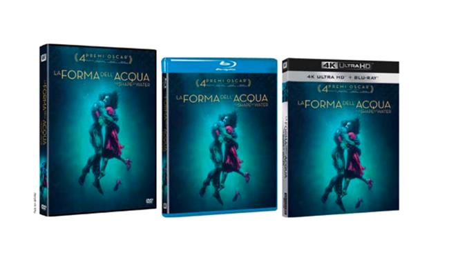 Packshot de La Forma dell'Acqua in Home Video
