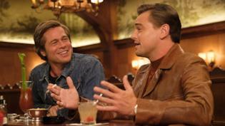 Brad Pitt e Leonardo DiCaprio, protagonisti di C'era una volta a... Hollywood