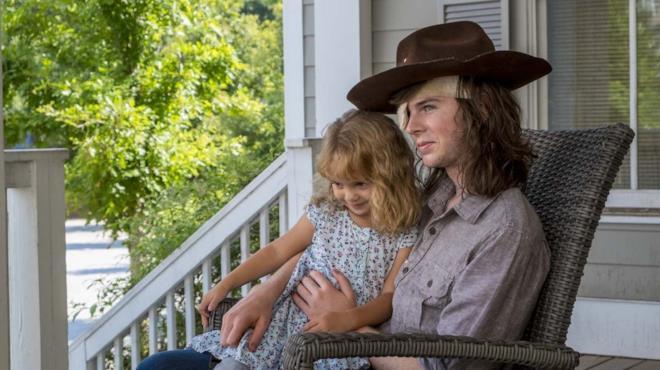 Carl in The Walking Dead 8
