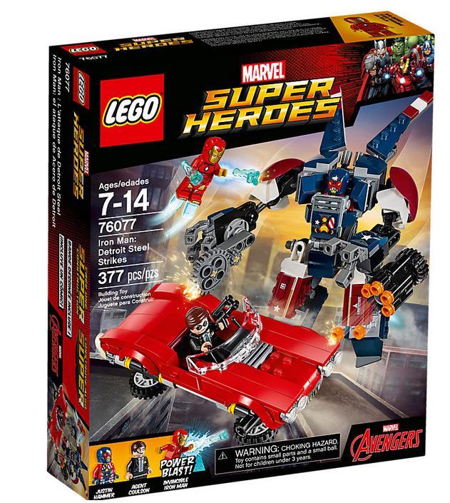Dettagli del box Iron Man: l'attacco di Detroit Steel di LEGO