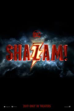 Il logo di Shazam! nel teaser poster del film