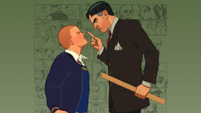 Il protagonista di Bully alle prese con un severo professore