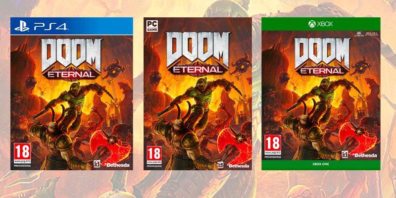 La boxart di Doom Eternal su PC, PS4 e Xbox One