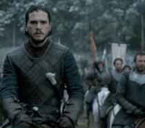 Kit Harington è Jon Snow in Game of Thrones 6x09 La battaglia dei Bastardi