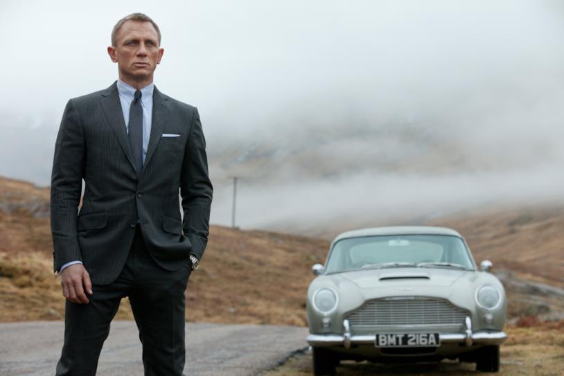 Daniel Craig in una foto sul set di Skyfall
