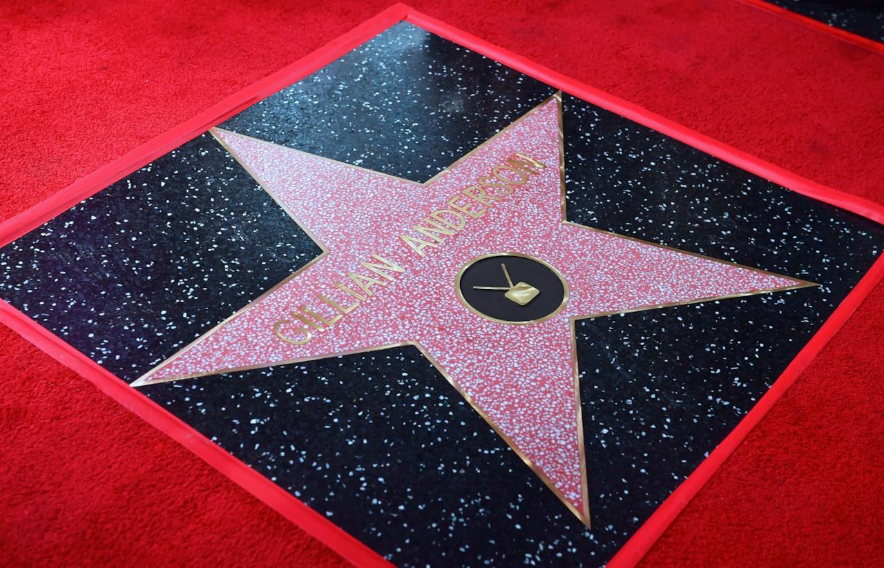 La stella assegnata a Gillian Anderson
