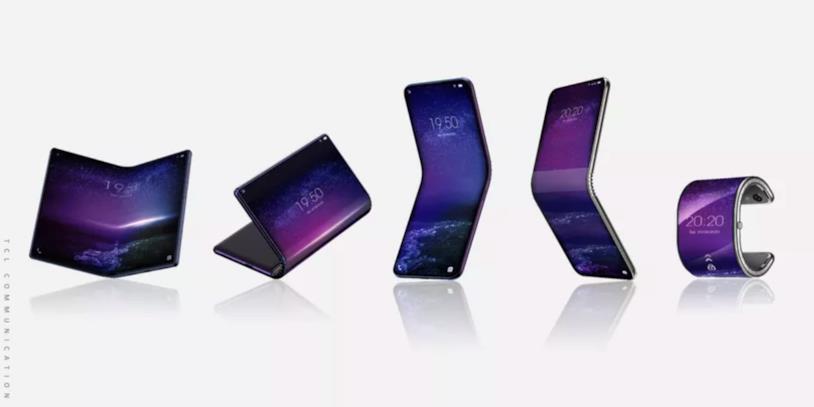 Concept dei cinque dispositivi con display flessibile su cui sta lavorando TCL