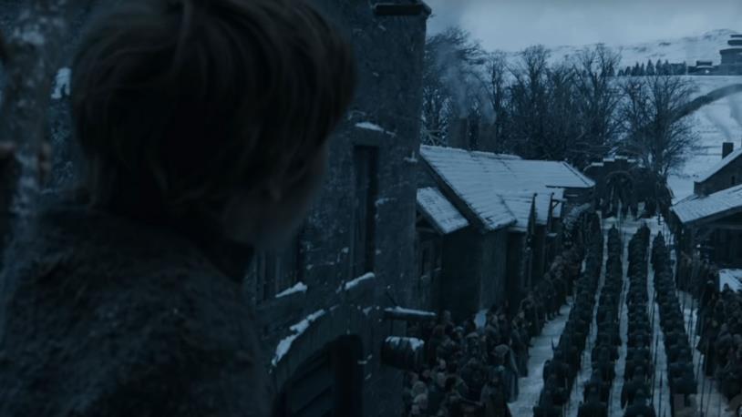 L'arrivo di Daenerys e del suo esercito a Grande Inverno