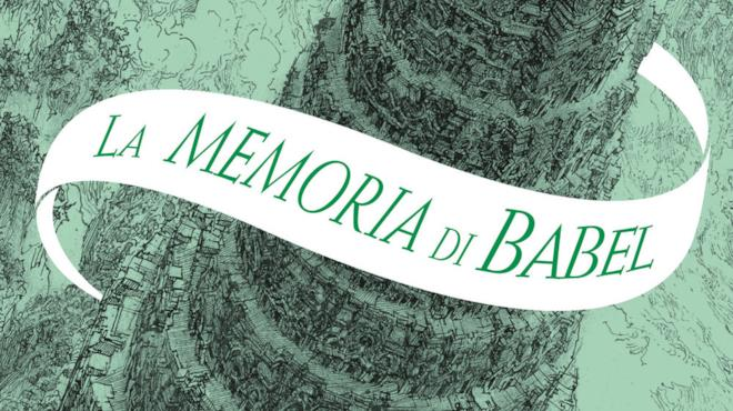 Un dettaglio della copertina de La memoria di Babel