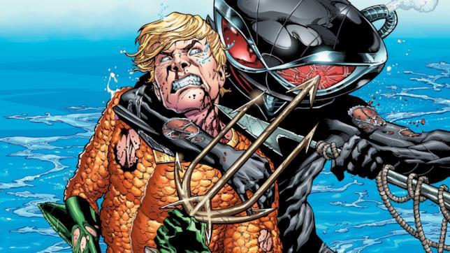 Aquaman combatte contro Black Manta